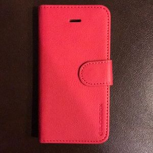 Accessories - Pink wallet case for iPhone 5s